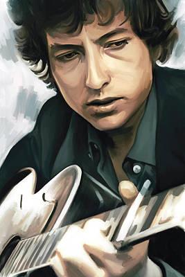Bob Dylan Artwork Poster by Sheraz A