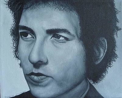 Poster featuring the painting Bob Dylan by David Dunne