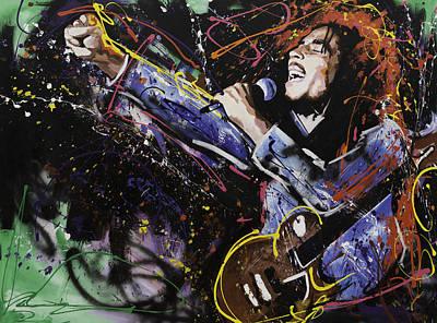 Bob Marley Poster by Richard Day