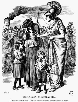 Boer War Cartoon, 1899 Poster