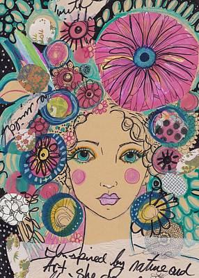 Boho Flower Girl  Poster
