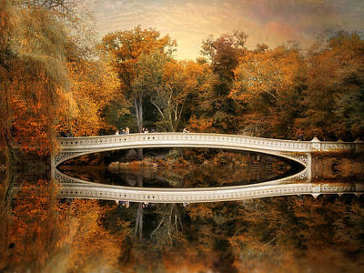 Bow Bridge Reflections Poster by Jessica Jenney