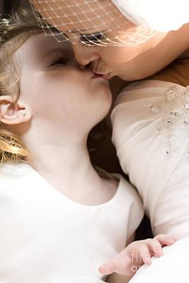Bride Kissing Her Daughter Poster