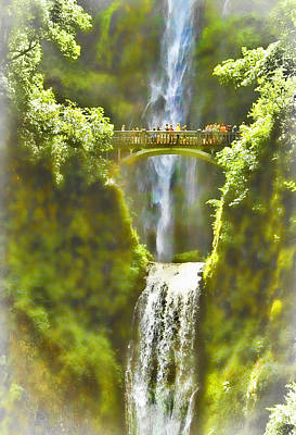 Bridge At The Falls Poster