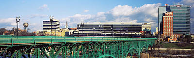 Bridge With Buildings Poster by Panoramic Images
