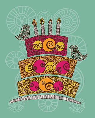 Brithday Cake_hi Res Poster by Valentina Ramos