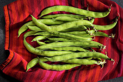 Broad Beans On A Red Cloth Poster by Aberration Films Ltd