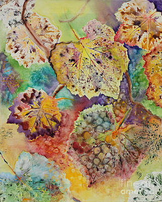 Poster featuring the painting Broken Leaf by Karen Fleschler