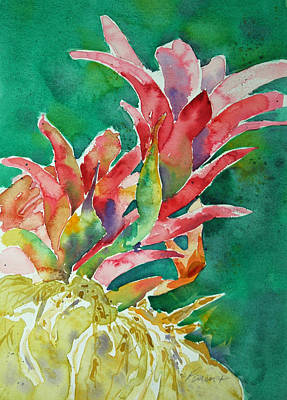 Poster featuring the painting Bromeliad by Roger Parent