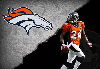 Broncos Champ Bailey Poster by Joe Hamilton