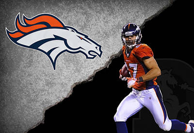 Broncos Eric Decker Poster by Joe Hamilton