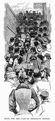 Brooklyn Bridge, 1898 Poster by Granger