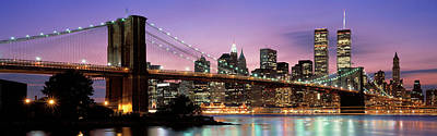 Brooklyn Bridge New York Ny Usa Poster by Panoramic Images