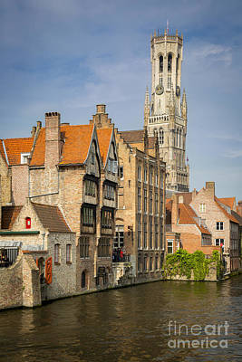 Bruges Canal Poster by Brian Jannsen