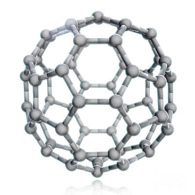 Buckminsterfullerene, Molecular Model Poster by Evan Oto