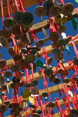 Buddhist Prayer Wishes Ema Hanging Poster by Panoramic Images