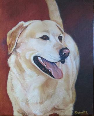 Poster featuring the painting Buddy by Sharon Schultz