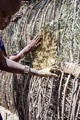 Building A Maasai Hut Poster