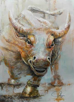 Bull Market W Redo Poster by John Henne