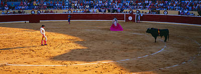 Bullfighter Ready For Bullfight Poster by Panoramic Images