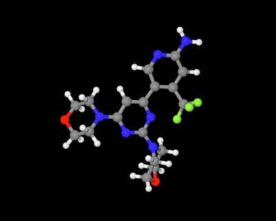 Buparlisib Experimental Drug Molecule Poster by Dr Tim Evans
