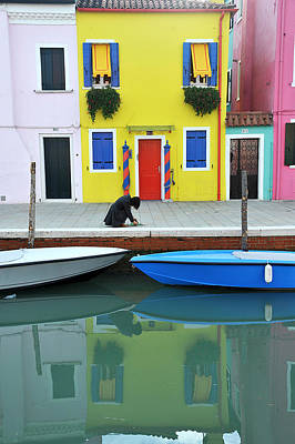 Poster featuring the photograph Burano Italy by John Jacquemain