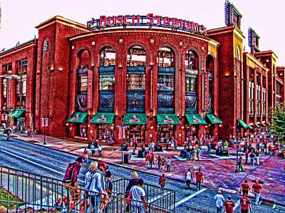 Busch Stadium Poster