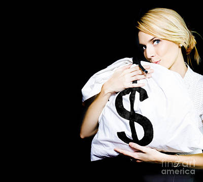 Business Woman In Love With Financial Success  Poster