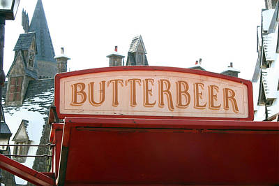 Butterbeer Sign Poster by Shelley Overton