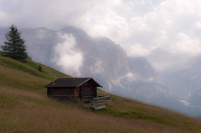 Cabin In The Dolomites Poster