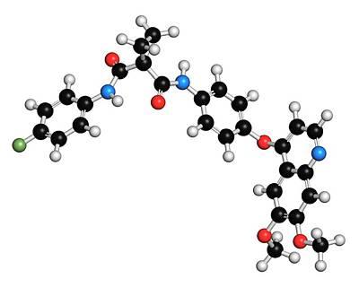 Cabozantinib Cancer Drug Molecule Poster