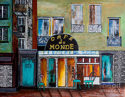 Cafe Du Monde Poster by Barbara McMahon