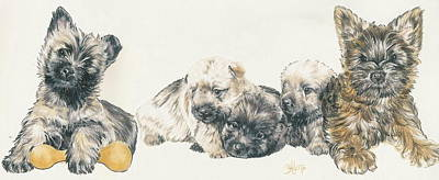 Cairn Terrier Puppies Poster