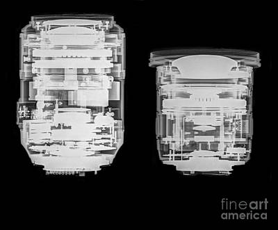 Camera Lens Under X-ray.  Poster