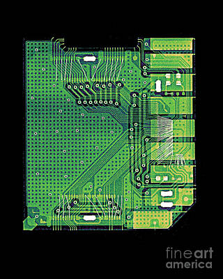 Camera Memory Chip X-ray Poster by Bert Myers