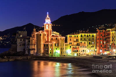 Camogli At Evening Poster