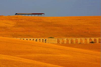 Tarquinia Landscape Campaign With Aqueduct Poster