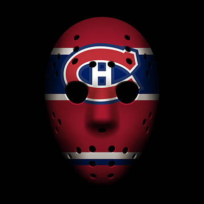 Canadiens Goalie Mask Poster by Joe Hamilton