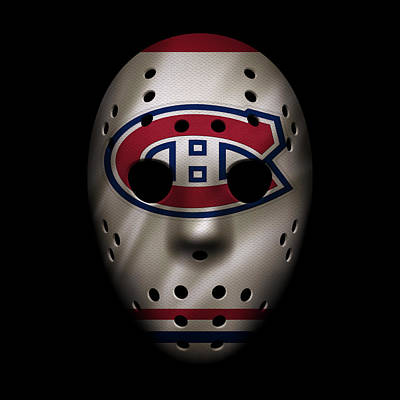 Canadiens Jersey Mask Poster by Joe Hamilton