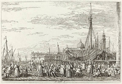 Canaletto Italian, 1697 - 1768, The Market On The Molo Poster by Quint Lox