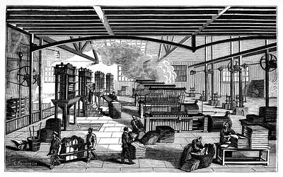 Candle Factory Poster by Science Photo Library