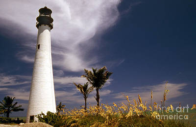 Cape Florida Lighthouse Poster by Skip Willits