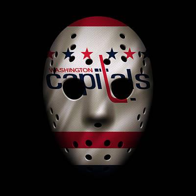 Capitals Jersey Mask Poster by Joe Hamilton