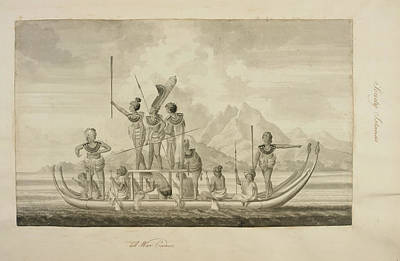 Captain Cook's First Voyage Of Exploratio Poster by British Library