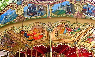 Carcassonne Carousel Poster by France  Art