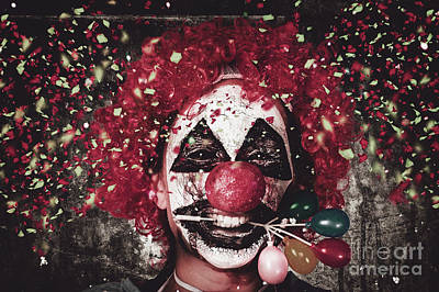 Carnival Clown With Balloon Cake Decoration Poster by Jorgo Photography - Wall Art Gallery