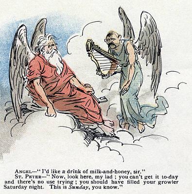 Cartoon Blue Laws, 1895 Poster