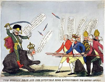 Cartoon Catherine II Poster