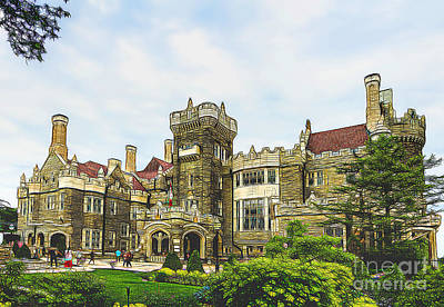 Casa Loma In Toronto Poster by Les Palenik
