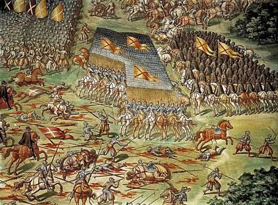 Castello, Fabrizio 1562-1617. Battle Poster by Everett